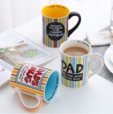 Flor que pinta la taza de cerámica de la sopa del té del café con la maneta