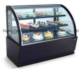 Refrigerador de mármore do indicador do bolo de Basedcommercial com Ce