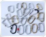 Anillos en D del metal de los accesorios del harness de seguridad (H217D)
