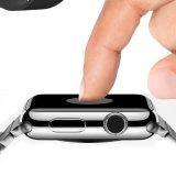 Umfaßter ausgeglichenes Glas-Bildschirm-Schoner-Schutz der Qualitäts-Kratzer-beständiger gebogener Oberflächen-3D voll für Apple-Uhr