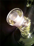 Conduite d'eau en verre en verre de pipe de fumage avec peu de pneu et nid d'abeilles Holey bleu de tambour