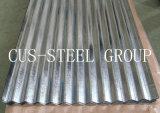 Lo zinco di larghezza 665/800/900mm ha ricoperto le lamiere di acciaio/strati ondulati galvanizzati del tetto