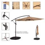 크랭크, 8개의 강철 늑골 (Tan)를 가진 오프셋 안뜰 우산 옥외 피트 10 알루미늄