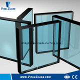 ガラスか空ガラスに二重ガラスをはめる曇らされた装飾の手すりのガラスかシャワー