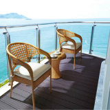 Il tavolino da salotto esterno della mobilia del nuovo di disegno del PE patio impermeabile del rattan ha impostato per il giardino esterno