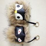 Heißes Verkauf Raccon Pelz-Kugelnfaux-Pelz-Kugel Keychains Pelz-Monster Keychains für Handtasche