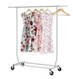 クロム終わりと調節可能な商業用等級の衣類の衣服ラック最高の鋼鉄