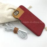 la más nueva cubierta y caja del teléfono móvil del cuero del diseño del iPhone