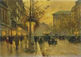 Peinture antique d'art de vue de rue de type de l'Angleterre pour la décoration d'hôtel