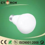 Luz de bulbo de alumínio 7W da forma do cogumelo do diodo emissor de luz de Ctorch E27/B22
