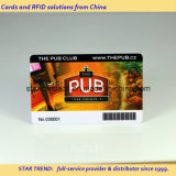 cartão padrão da cópia off-Set com o código de barras para o anúncio