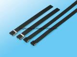 Verschlossene Edelstahl-Kabelbinder des Bunble Gefäß-Schwarz-O