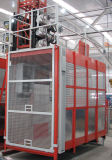 Maquinaria de construcción doble de la jaula de Tdt 36m/Min (SC120/120)