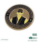 Pièce de monnaie molle personnalisée de souvenir de fonctionnaires du base-ball d'Augusta d'émail en métal