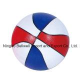 Baloncesto respetuoso del medio ambiente multicolor del PVC con la insignia impresa