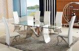 De moderne Eettafel van het Glas van het Meubilair van het Metaal voor Verkoop