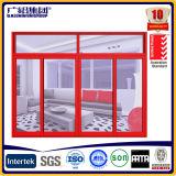 Aluminiumrahmen-doppeltes und einzelnes schiebendes Glasfenster
