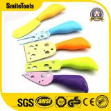 비 5PCS 스테인리스 지팡이 색깔 코팅 치즈 칼 저미는 기계 절단기 세트