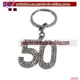 Подарок дня рождения Keyring ключевого кольца Keychain подарков праздника 50th (G8005)