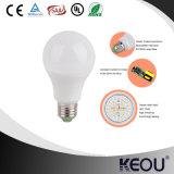 Lumière d'ampoule en plastique de l'aluminium 3W 5W 7W 9W 12W DEL de couverture