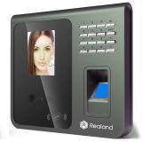 Sistema de la atención del tiempo del sensor de la huella digital del reconocimiento de cara de Realand F391