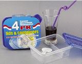 Le plastique de Microwavable divisé deux par compartiments emportent le conteneur de nourriture