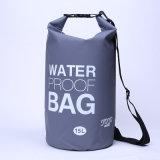 Sac sec imperméable à l'eau campant extérieur promotionnel de baril du sac à dos 15L (YKY7272)