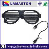 활성 LED 점멸 안경 파티 선글라스 사운드