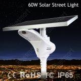 Indicatore luminoso di via solare della lampada LED di Bluesmart 60W LED con 8m Palo