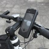 A montagem impermeável do suporte do telefone da bicicleta para a motocicleta cabe o iPhone 6s