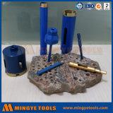 Piedra de granito herramientas de perforación, la base del diamante Broca, Sierra agujero