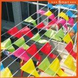 Bandierina pura del cielo di colore in conformità con figura del triangolo