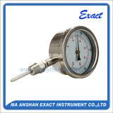 Termómetro bimetálico del termómetro del acero inoxidable - desplazamiento del termómetro del conector