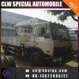 LKW Dongfeng Rhd des Kran-6ton Lastwagen eingehangener teleskopischer Hochkonjunktur-Kran