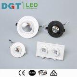 Projector claro Recessed do diodo emissor de luz Dimmable da ESPIGA clara 10W do diodo emissor de luz para baixo com tempo longo