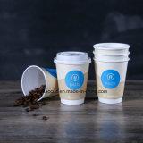2017 tazas de papel del nuevo de la llegada café doble disponible de la pared