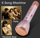 Microfone sem fio do karaoke com o microfone de condensador do altofalante para o altofalante ativo