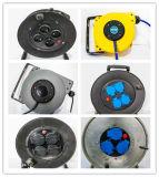 プラスチック携帯用小型ケーブル巻き枠、ハンドルケーブル巻き枠、ケーブルボックス、Kabelボックス、延長コード、フランスのタイプ、ポーランドのソケット、プラグH05V