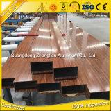 Profil creux en aluminium d'OEM d'extrusion de la Chine d'approvisionnement en aluminium de constructeurs avec les couleurs en bois