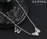 00122 Hot Sale Fashion Butterfly Zircon Jewelry Necklace