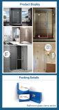 Liga popular do zinco braçadeira do vidro do banheiro de 90 graus