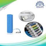 batterie de sauvegarde externe portative de parfum du côté 18650 de pouvoir de 2600mAh USB