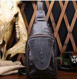 Saco da caixa do couro do saco do mensageiro do ombro dos homens da grão do crocodilo