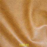 Couro artificial de Upholstery da mobília do plutônio com grão de Lichee