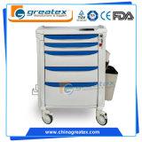 ABS Anestesia de la carretilla, carro médico con ruedas (GT-TA3810)