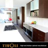 クルミのベニヤの台所デザイン台所家具の食器棚Tivo-0061V