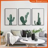 Het in het groot Moderne Met de hand geschilderde Decoratieve Olieverfschilderij van de Cactus Dropship op Canvas