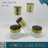 Clear Cosmetic Glass Bottles and Cosmetic Glass Cream Jars