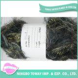 Spécialité Chunky Knit Spun Polyester Fuzzy Cils Glitter Yarn