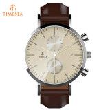 Relógio dos homens do aço inoxidável com o indicador de cristal 72515 do seletor da safira